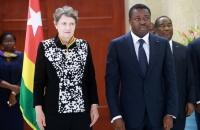 29 Mars 2017 : Mme Helen Clark, Administrateur du PNUD, élevée au rang de Commandeur de l'Ordre du Mono par le Chef de l'Etat Faure Gnassingbé