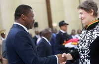 29 Mars 2017 : Mme Helen Clark, Administrateur du PNUD, élevée au rang de Commandeur de l'Ordre du Mono par le Chef de l'Etat Faure Gnassingbé  (5)