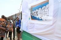 Devoilement de la fresque -Le chemin de la paix- par le Chef d'État Faure Gnassingbé