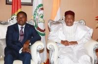 Les présidents Faure Gnassingbé et Mahamadou Issoufou à Niamey le 5 octobre 2017 (3)