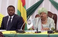 Ellen Johnson Sirleaf et Faure Gnassingbe a Monrovia - 12 Avril 2017