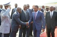 Arrivee de Faure Gnassingbe au Sommet de l'UEMOA - 10 avril 2017