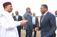Les présidents Faure Gnassingbé et Mahamadou Issoufou à Niamey le 5 octobre 2017