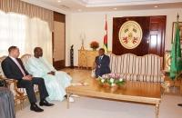 25 août 2017 - Moustapha Cissé Lo, président du Parlement de la Cedeao reçu en audience par Faure Gnassingbé