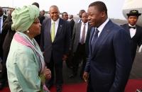 Ellen Johnson Sirleaf accueille Faure Gnassingbe a Monrovia  - 12 Avril 2017 c