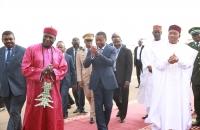 Faure Gnassingbé arrive à Niamey le 5 octobre 2017