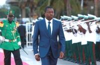 Faure Gnassingbé - Arrivée Monument de l'indépendance