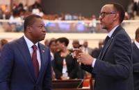 Faure Gnassingbé et Paul Kagamé lors du 3e Sommet Transform Africa à Kigali au Rwanda