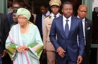 Ellen Johnson Sirleaf et Faure Gnassingbe a Monrovia - 12 Avril 2017  b