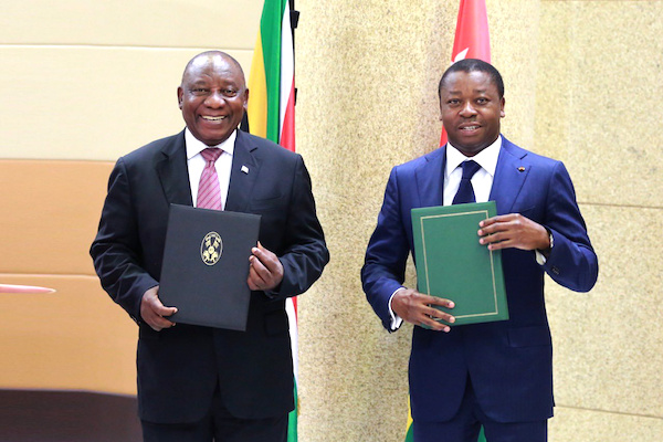le-togo-et-l-afrique-du-sud-desormais-lies-par-un-accord-cadre-de-cooperation