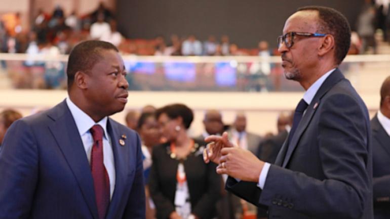 Paul Kagame à Faure Gnassingbé : « Votre réélection confirme la ...